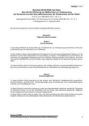 ArbSch 1.1.1 1 Richtlinie 89/391/EWG des Rates über ... - economed