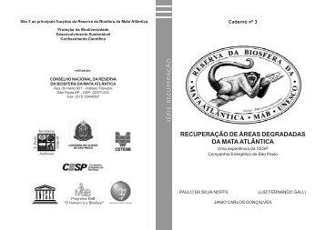 recuperação de áreas degradadas da mata atlântica - Reserva da ...