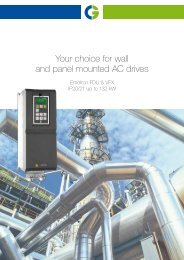 Your choice for wall and panel mounted AC drives - Emotron