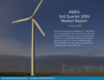 AWEA 3rd Quarter 2009 Market Report - Ellington