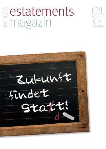 estatements magazin 01/11 - PATRIZIA Immobilien AG