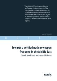 Towards a nuclear weapon free zone in the Middle East - VERTIC