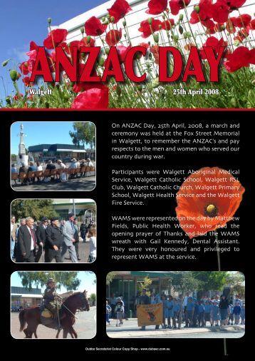 Anzac Day - WAMS