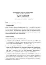 Richtlinie über die Gewährung von Zuwendungen an ... - Perspektiven