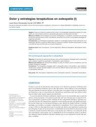 Dolor y estrategias terapéuticas en osteopatía - Fisaude