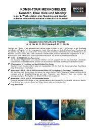 Mexiko und Belize Kombi - Roger Tours