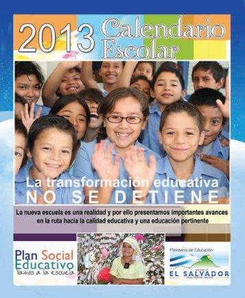 Calendario Escolar 2013 - Ministerio de Educación de El Salvador