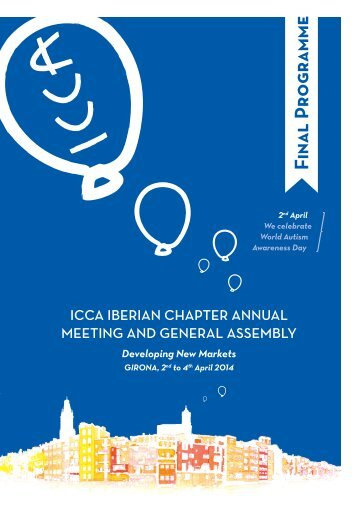 Annual Meeting ICCA Iberian Chapter Girona 2014 Final Program