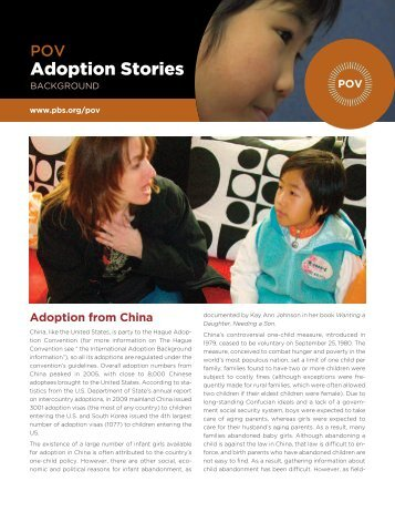 Adoption from China - PBS