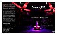 View Theatre at UBC's Program Brochure