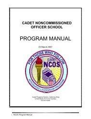 NCOS Program Manual 2001 2009 - California Wing Cadet Programs