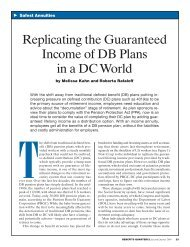 Replicating the Guaranteed Income of DB Plans in a DC World