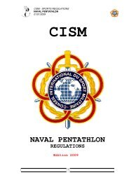 Naval Pentathlon regulations - CISM