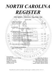 NC Register Volume 25 Issue 20 - Office of Administrative Hearings