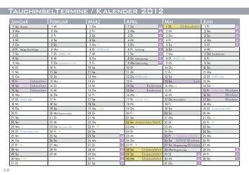 TauchinselTermine / Kalender 2012
