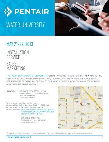 WATER UNIVERSITY - Pentair Residential Filtration
