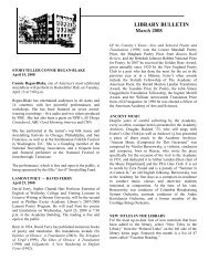 LIBRARY BULLETIN March 2008 - Phillips Exeter Academy