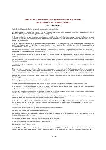 Código Federal de Procedimientos Penales - RTP