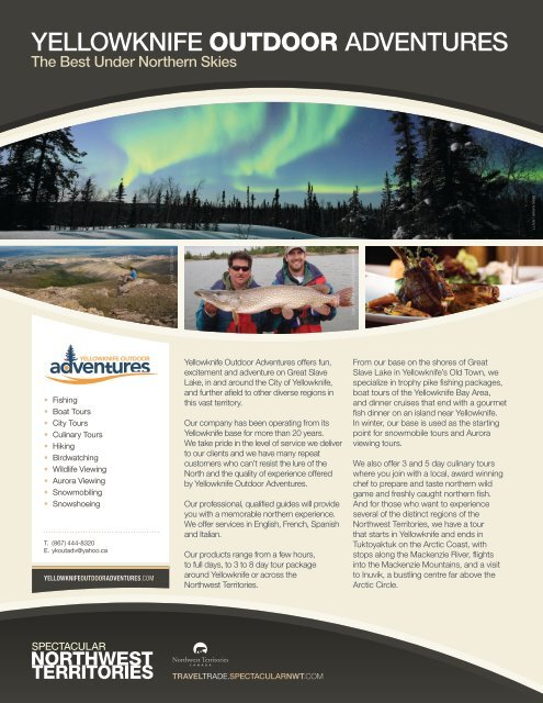 Yellowknife Outdoor Adventure - NWTT Travel Trade
