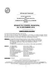Conseil municipal du 16 décembre 2010 - Franconville
