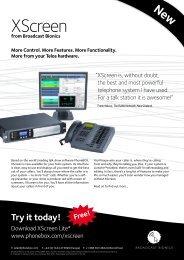 XScreen - Broadcast Bionics