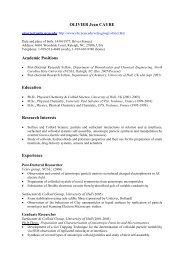 OLIVIER Jean CAYRE - Chemical & Biomolecular Engineering ...