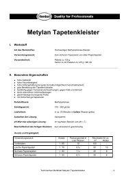 Technisches Merkblatt