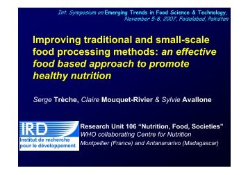 Improving traditional and small-scale food processing ... - Nutridev
