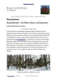 Reichelsheim Burg Rodenstein – Von Rittern ... - Burgen-Web.de