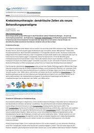 dendritische Zellen als neues Behandlungsparadigma