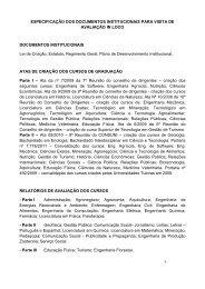 ESPECIFICAÇÃO DOS DOCUMENTOS ... - Unipampa