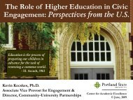 The Role of Higher Education in Civic Engagement - The American ...