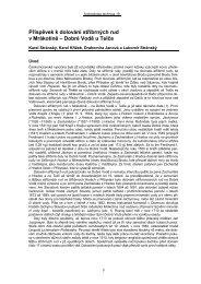 Stránský L.:Příspěvek k dolování stříbrných rud v Mrákotíně – Dobré