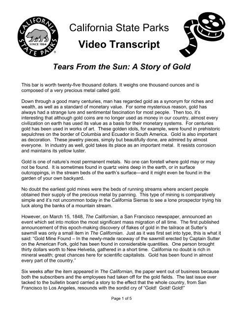 Video Transcript Tears From The Sun A