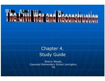 civil war and reconstruction