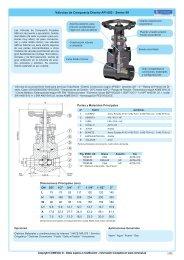 Válvulas de Compuerta Diseño API 602 - Series 99 - COMEVAL