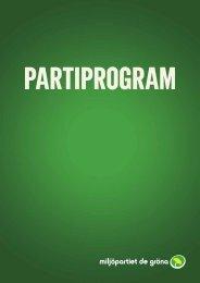 Ladda ner partiprogrammet i PDF-format. - Miljöpartiet de gröna
