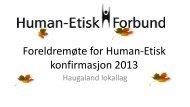..og Humanisme - Human-Etisk Forbund