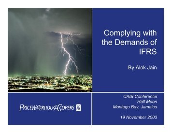 Complying with the Demands of IFRS