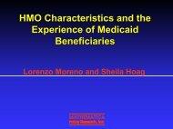 HMO Characteristics - Mathematica Policy Research