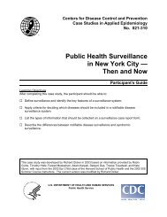 Public Health Surveillance in New York City — Then and Now - Library