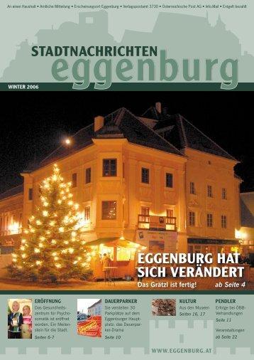 """EGGENBURG HAT SICH VERÃ""""NDERT - Stadtgemeinde Eggenburg"""
