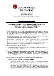 ZONE ACEAC - Caritas Congo