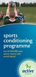 sports conditioning programme - Active Physio