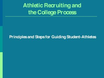 Athletic Recruiting and the College Process - Belmont Hill School