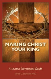MAKING CHRIST YOUR KING - God Issues