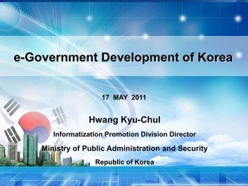 MENA ICT Workshop Presentation Session 3 Korean eGov