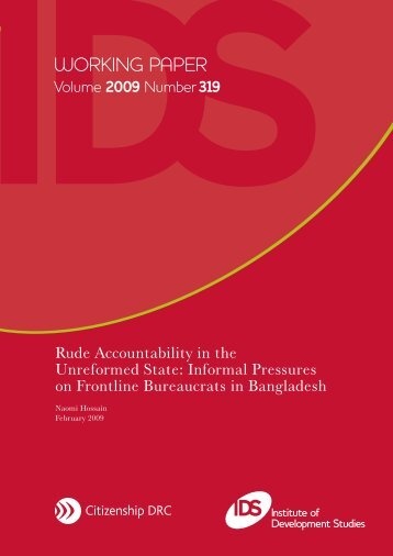Rude Accountability in the Unreformed State - Research for ...