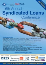 Syndicated Loans - Euromoney Institutional Investor PLC