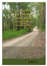 Literature review of horse riding impacts on protected areas